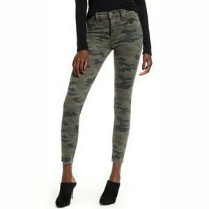 🆕️Hudson High Waist Camo Raw Hem Skinny Jeans
